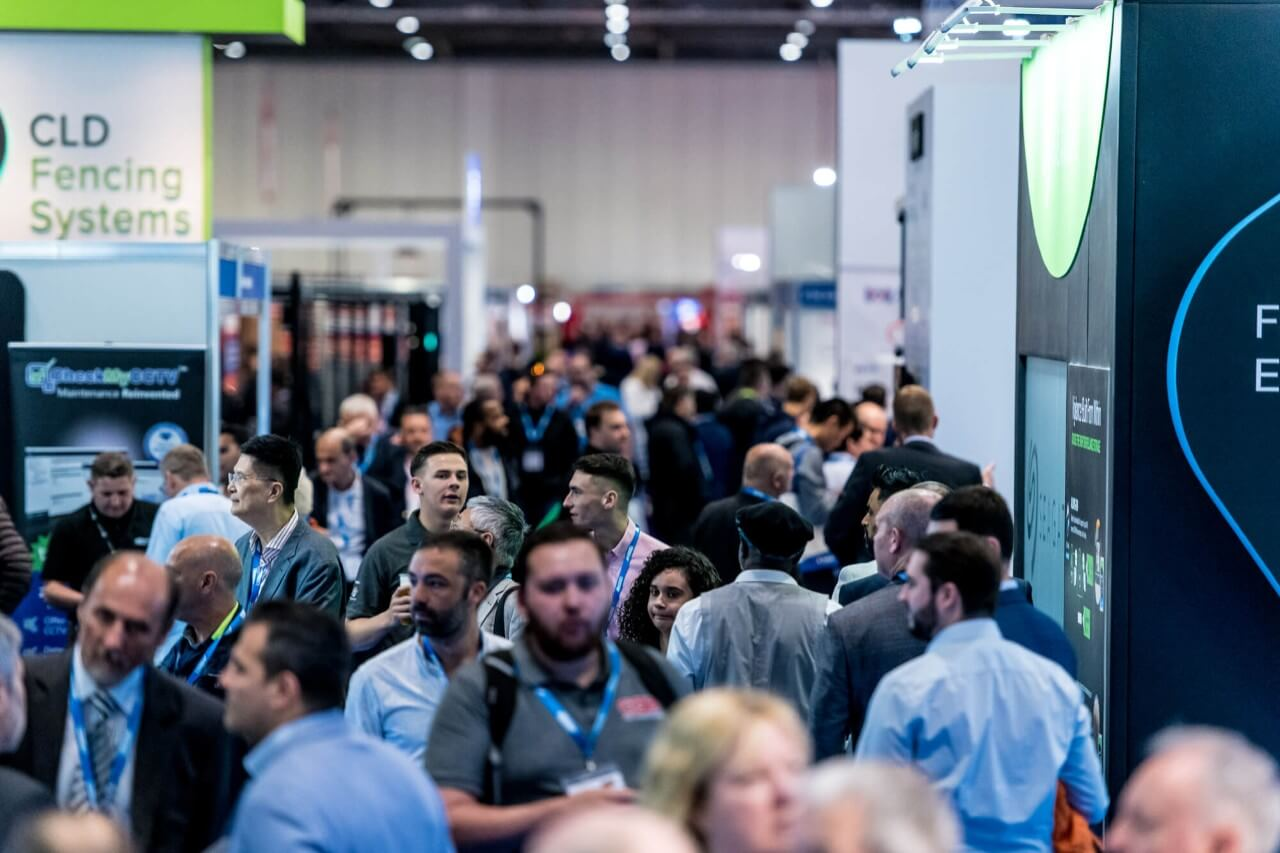 Busy crowds at IFSEC 2019