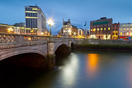 Dublin Ireland bridge night