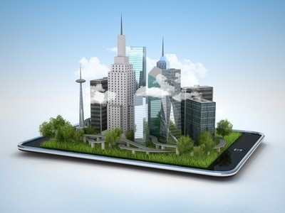 Tablet smartphone smart buildings