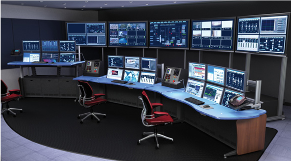 A typical Security control Room