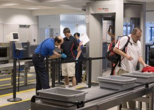 Airport customs security scanning