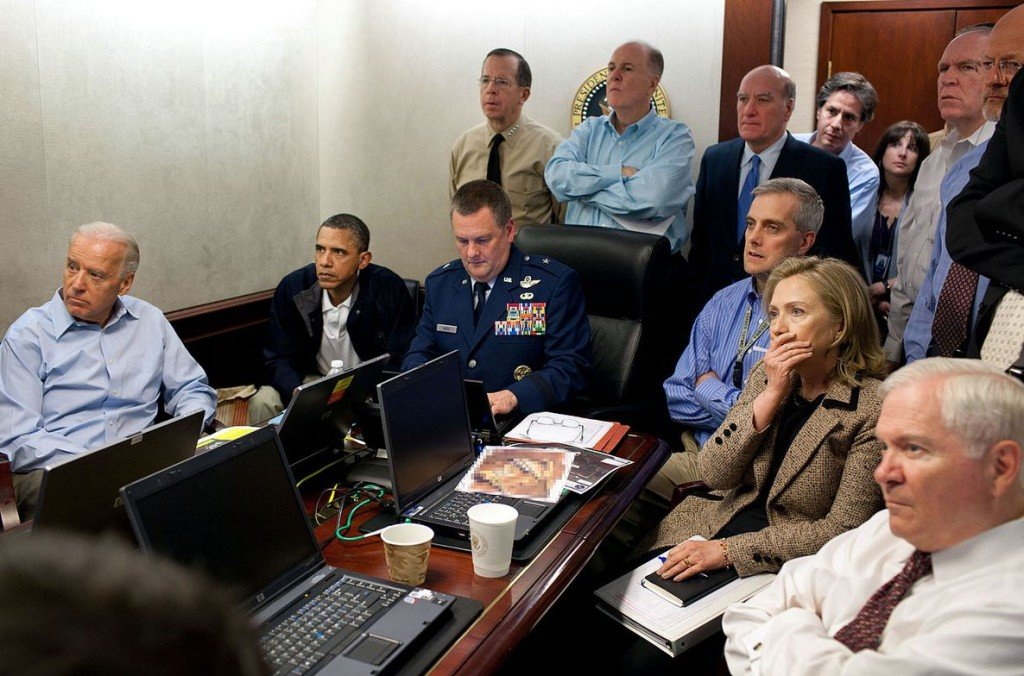 Watching Osama Bin Laden being killed