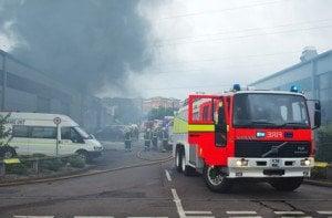 fire engine smoke