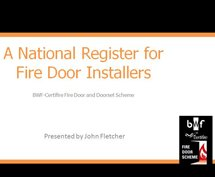 Download: A National Register for Fire Door Installers