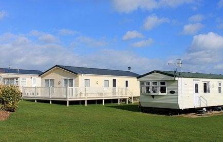 Modern trailer or caravan park