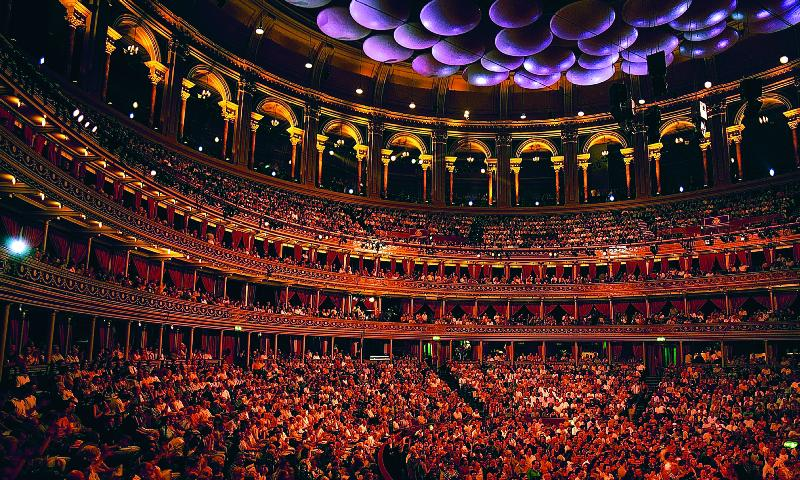 Inside the iconic auditorium at the Royal Albert Hall