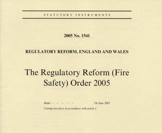 The Regulatory Reform Fire Safety Order 10 Years On
