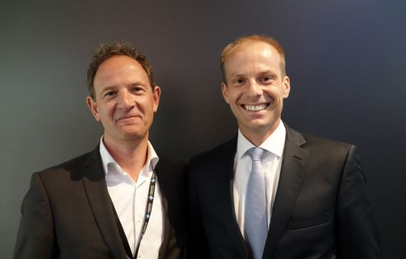 Thomas Lausten, VP EMEA at Milestone Systems and Sieger Volkers, Managing Director Security Management
