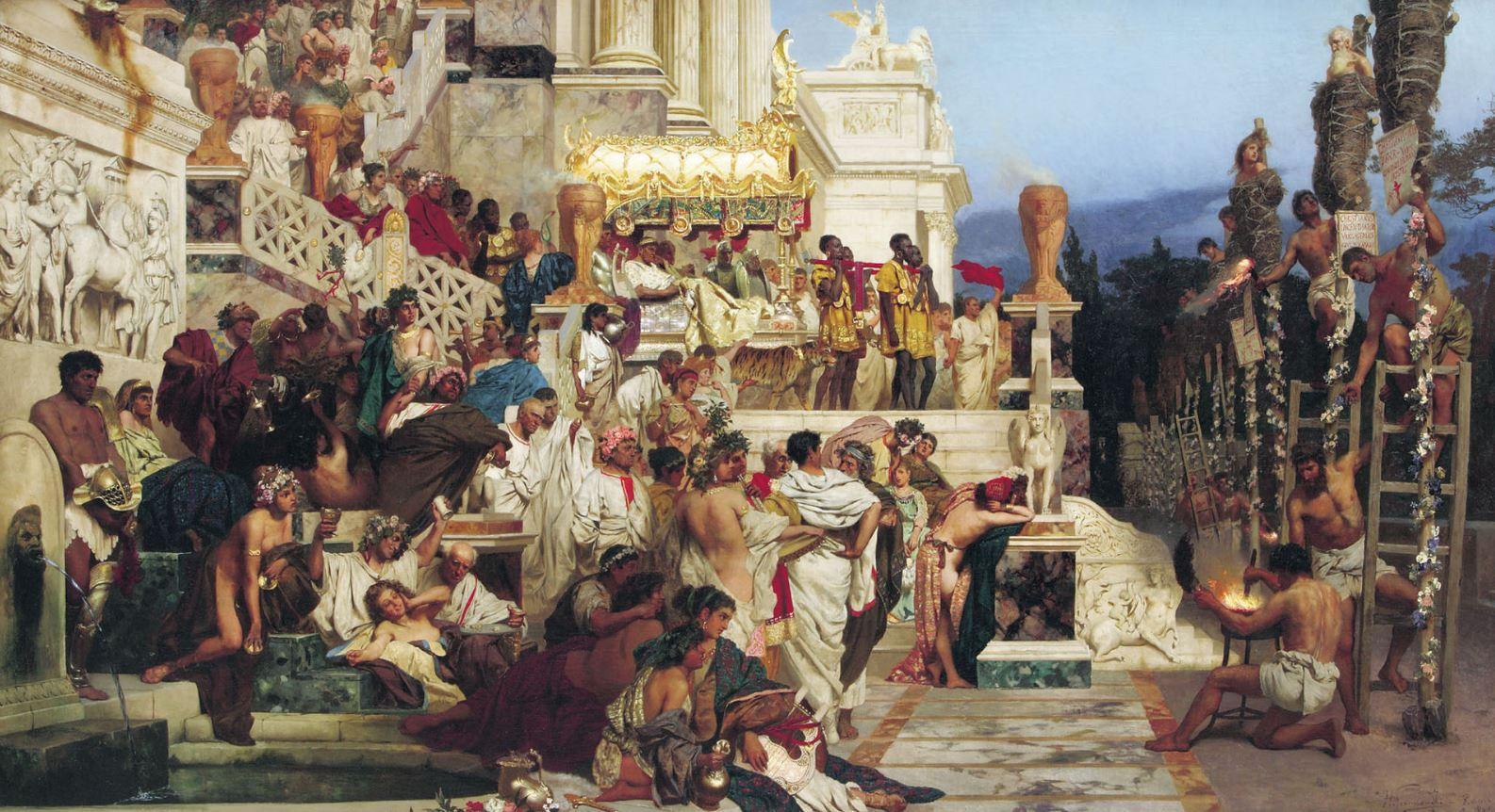 The Torches of Nero, by Henryk Siemiradzki