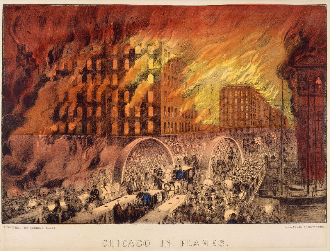 The Great Chicago Fire Of  Buildings Made Of Wood
