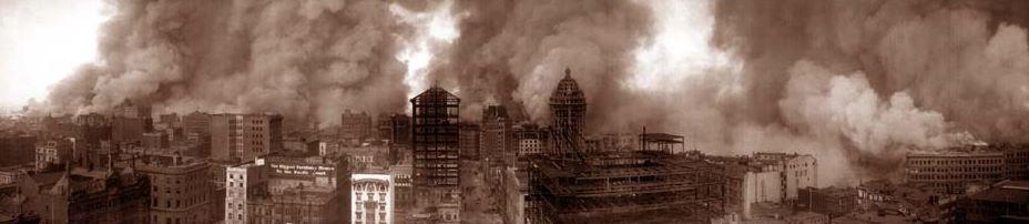 san francisco burning in 1906