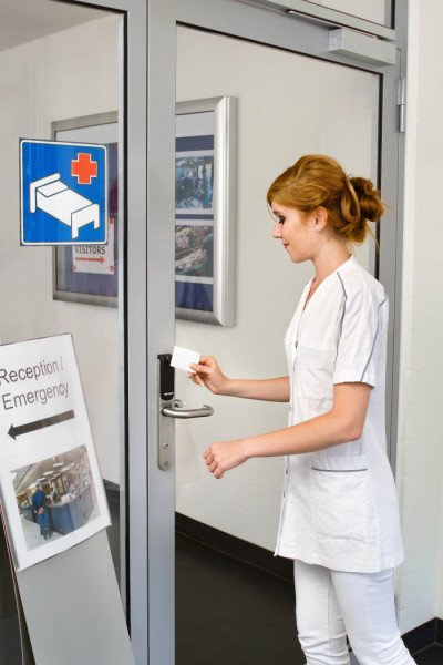 Aperio® escutcheon and nurse