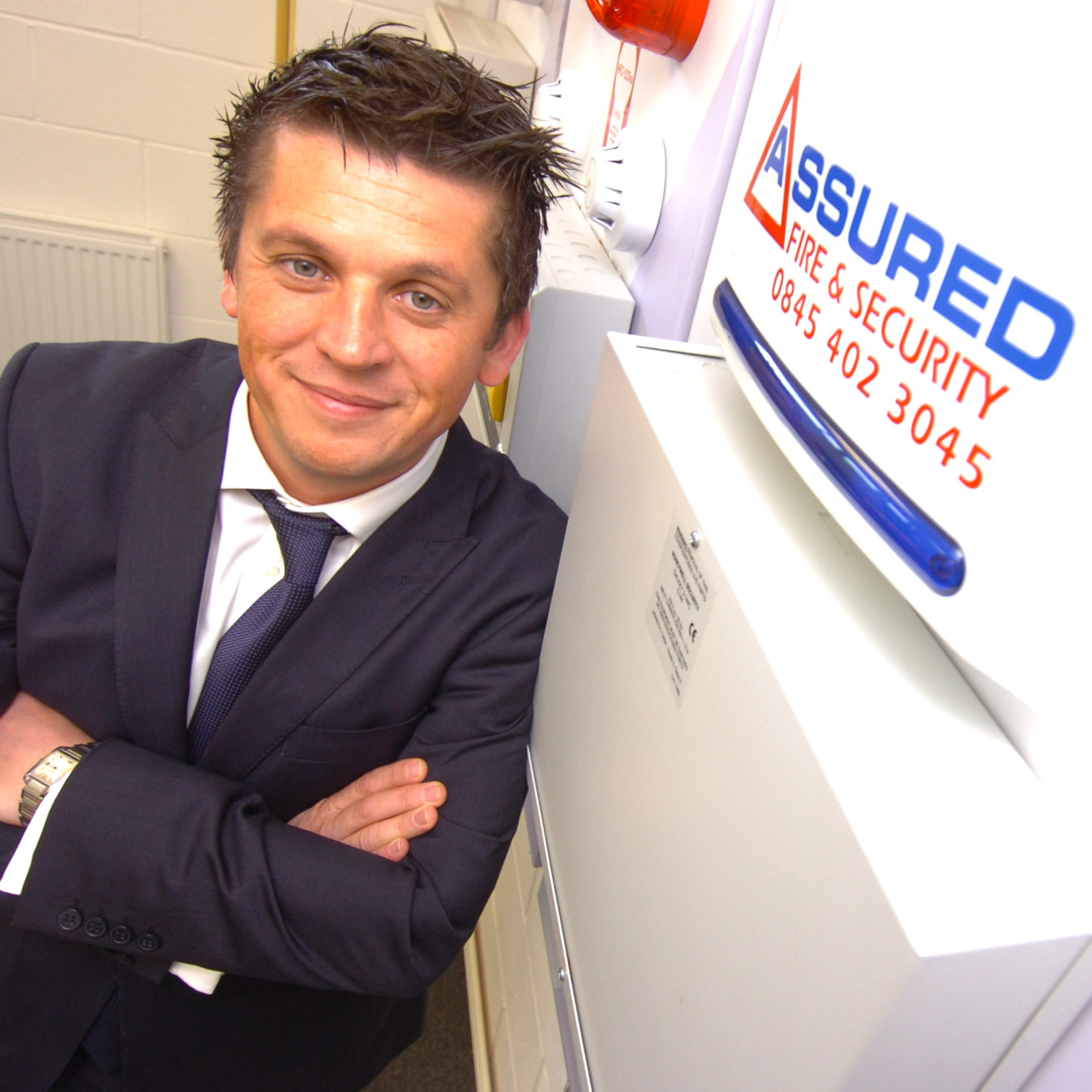 Simon Stokes, of Assured Fire and Security at Dinnington office