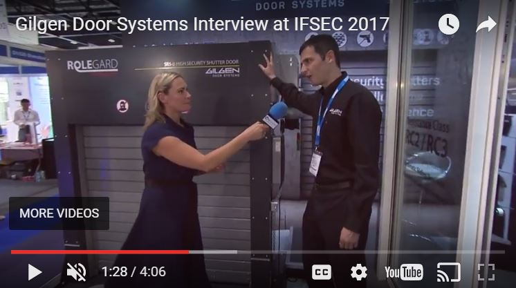 watch gilgen door systems and the sr5 b shutter on ifsec tv. Black Bedroom Furniture Sets. Home Design Ideas