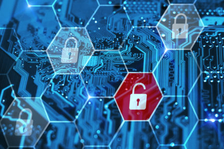 Internet piracy and cybersecurity concept  Integrated